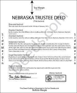 Nebraska Trustee Deed for Inter Vivos Trust Form