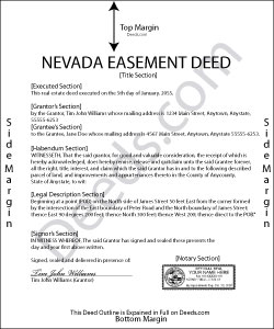 Nevada Easement Deed Form
