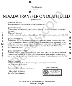 Nevada Transfer on Death Deed Form