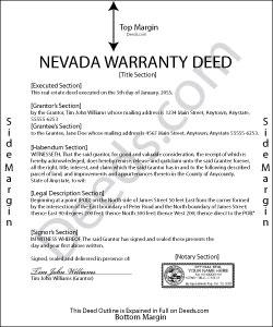 Nevada Warranty Deed Form