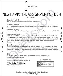 New Hampshire Assignment of Lien Form
