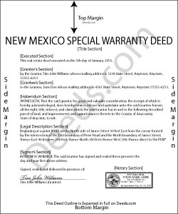 New Mexico Special Warranty Deed Form