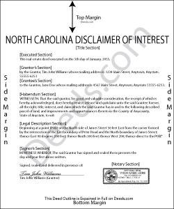 North Carolina Disclaimer of Interest Form