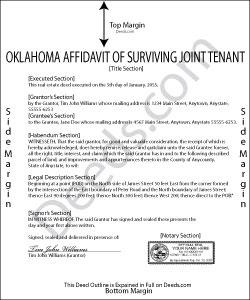 Oklahoma Affidavit of Surviving Joint Tenant Form