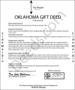 Oklahoma Gift Deed Form