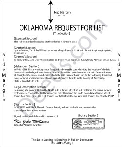 Oklahoma Request for List Form