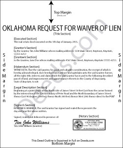 Oklahoma Request for Waiver of Lien Form