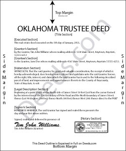 Oklahoma Trustee Deed Form