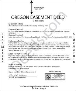 Oregon Easement Deed Form