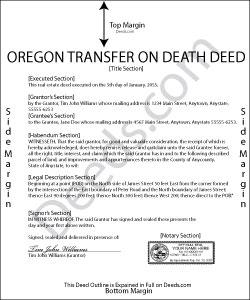 Oregon Transfer on Death Deed Form