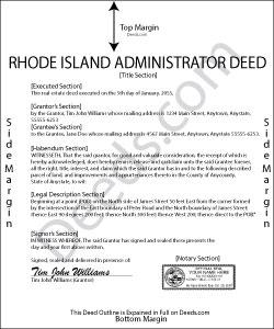 Rhode Island Administrator Deed Form