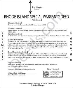 Rhode Island Special Warranty Deed Form