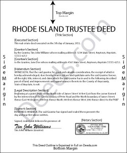 Rhode Island Trustee Deed Form