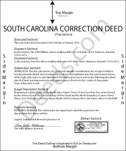 South Carolina Correction Deed Form