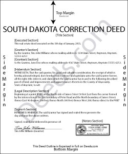 South Dakota Correction Deed Form