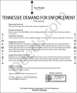 Tennessee Demand for Enforcement Form