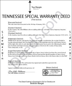 Tennessee Special Warranty Deed Form