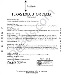 texas executor deed forms | deeds