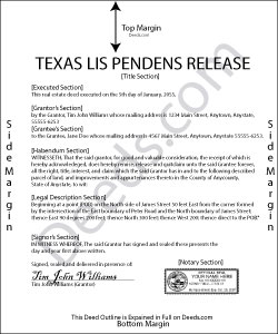 Texas Lis Pendens Release Form