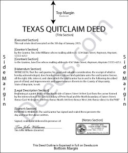 texas quit claim deed forms