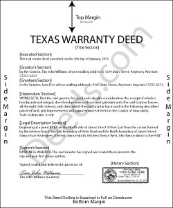 Texas Warranty Deed Forms | Deeds.com