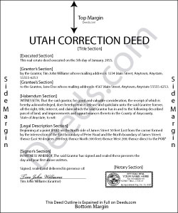 Utah Correction Deed Form