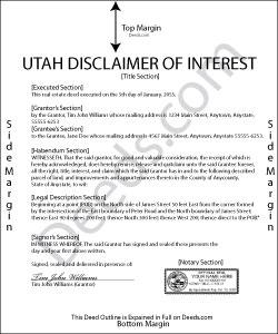 Utah Disclaimer of Interest Form