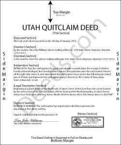 quit claim deed utah Utah Quit Claim Deed Forms | Deeds.com