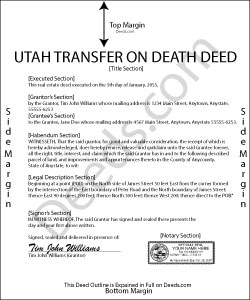 Utah Transfer on Death Deed Form