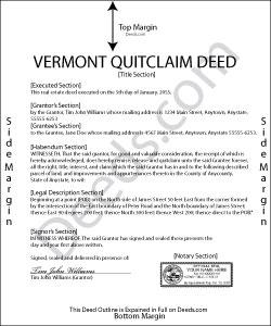 Vermont Quit Claim Deed Form