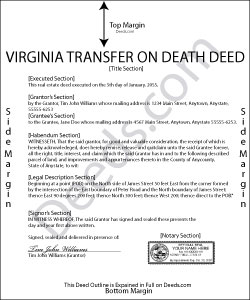 Virginia Transfer on Death Deed Form