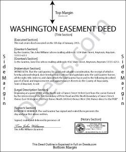 Washington Easement Deed Form