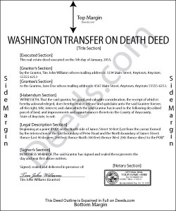 Washington Transfer on Death Deed Form