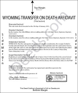 Wyoming Transfer on Death Affidavit Form