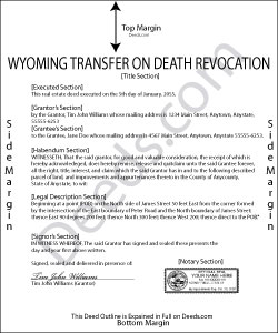 Wyoming Transfer on Death Revocation Form
