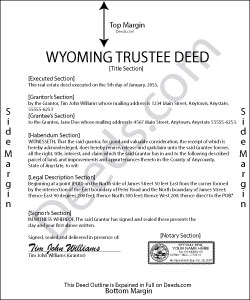 Wyoming Trustee Deed Form