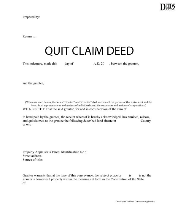 quick claim deed form for illinois  Quitclaim Deed | Complete Guide and Quitclaim Forms - Deeds.com