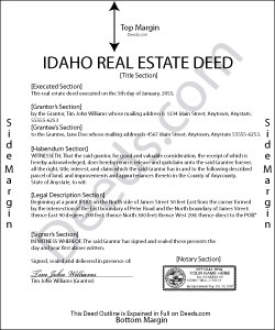 Idaho Real Estate Deeds